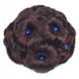 Discount royal hair color - Hot ! Royal Noble Women Diamond Bun Chignon Magique Make up Flowers Hair Bun Donut Updo Clip In Hair Piece Hair Extensio