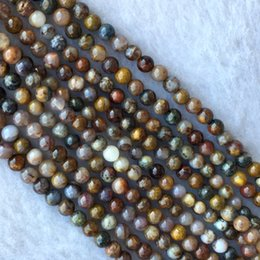Brown gemstone Beads online shopping - Natural Genuine Brown Gold Pietersite Stone Round Loose Gemstone Stone Small Beads mm quot
