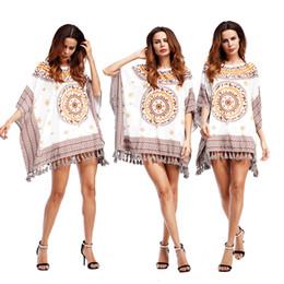 4ac8c92ba4 Womens Loose Crop Tops Canada - Summer Dress Women Printed Crop Top  Vestidos t Shirt Women's