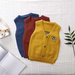 be301b3fd Autumn 2018 New Pattern Vest Knitting Sweater Men And Women Children Korean  Cardigan Puppy Vest Generation Hair
