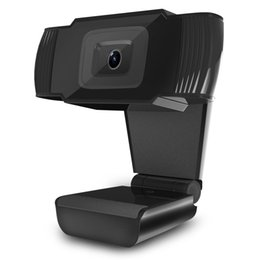 Wholesale Webcams Webcam HD P PC Camera with Absorption Microphone MIC for Skype for Android TV Rotatable Computer Camera USB Web Cam