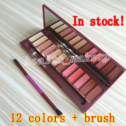 $enCountryForm.capitalKeyWord Australia - Brands Stock 12 colors Eye shadow makeup Cherry palette Matte Shimmer Eyeshadow pallete With Professional brushes Face bronzers Blush Plate