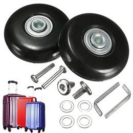 8ca2e5e88 2PCS Black Luggage bag Suitcase Replacement Rubber Wheels Axles Repair  Accessories No noise Casters OD 40mm 54mm 60mm 64mm 80mm