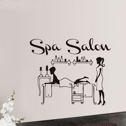 small room beds NZ - Spa Salon Wall Stickers Girls Wall Decorations Bed Room Bathroom Waterproof Window Stickers Vinyl Art Mural