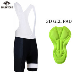 coolmax cycling Australia - Siilenyond 2018 Mens Cycling Bib Shorts Summer Coolmax 3D Gel Pad Bike Tights Roupa Ropa De Ciclismo Verano MTB Bicycle Pants
