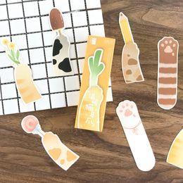 Cute korean bookmarks online shopping - 30 bag Cute Kawaii Cat Claw School Bookmark Cartoon Book Markers For Kids Korean Stationery Student