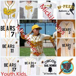 17 boy shorts online shopping - Kids Custom The Bad News BEARS Jerseys youth Kelly Leak Tanner Boyle The Bad News BEARS Movie Baseball Jersey S