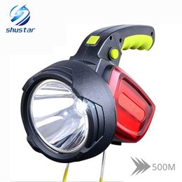 $enCountryForm.capitalKeyWord NZ - High Power Portable LED  searchlight 3 light sources 12000 lumen torch White light + red use 2 x 18650 battery