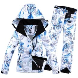 $enCountryForm.capitalKeyWord NZ - 2018 New Winter Impression Female Women's Ski Suit Jacket and PantHiking Suit Snowboard Clothings Warm Soft Ski for Women