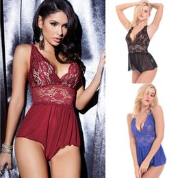 Hot Sexy Lingerie Women Costume NZ - Hot Erotic Sexy Lingerie Adult Sleepwear Open Crotch Cross strap Sexy Porn Costumes Pajamas For Women Lace Transparent underwear