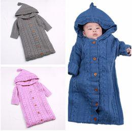 Toddler Sleep Sacks Australia - Baby Full Sleeved Sleeping Bag Warm Knit Sleepsack 0-12 Months Newborn Toddler Infant Knitted Sleeping Sacks Stroller Wrap 0-12M