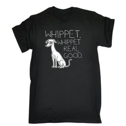 China Whippet Real Good T-shirt Dog 80s Party Techno Electronic Funny Gift Birthday Men T Shirt Short Sleeve Round Neck cheap electronics birthday gifts suppliers