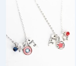 Marvel pendants online shopping - 6pair Bucky and Steve BFF Necklace Set Marvel Comic Steve Rogers Bucky Partners in Crime Best Friend Jewelry