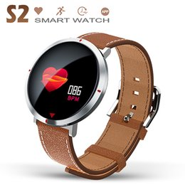Watch long bracelet online shopping - S2 Smart Watch with Heart Rate Cell Reminder Bracelet Fitness Tracker D Curved Glass Long Wristband For IOS and Android with Box