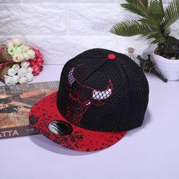 Popular Adjustable Designer Hats Easy To Carry Mesh Snapback Embroidery Bulls  Hip Hop Baseball Cap High Quality 11 5wz BB ad4b832b5dbc