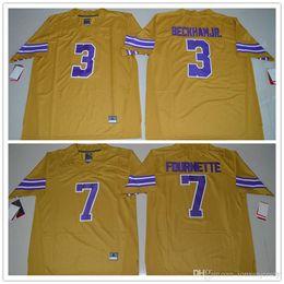 448a7df0a 2018-2019 LSU Tigers Odell Beckham Jr. 3 Leonard Fournette 7 College  Football Limited Legend Jersey - Gridiron Gold Size S-3XL