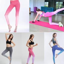 Body Fitness Suit Australia - dyed yoga legging skinny pants fitness suit high elastic body breathable dry pants Legging Tight Sportwear GGA480 10pcs
