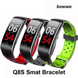 $enCountryForm.capitalKeyWord Australia - Q8S Q8 smart bracelet fitness Tracker heart rate monitor Blood Pressure Color Screen Waterproof Smart Wristband Watch for apple pk fitbit