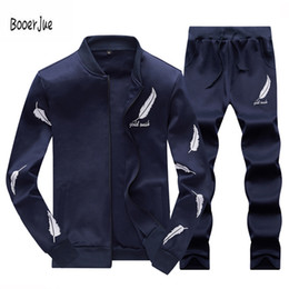 $enCountryForm.capitalKeyWord Canada - Tracksuit Men Warm Sportsuit Set Men Cardigan Wing Printed Zipper Track suits Track Suit 4XL Male Red Yellow 2018 New Arrival