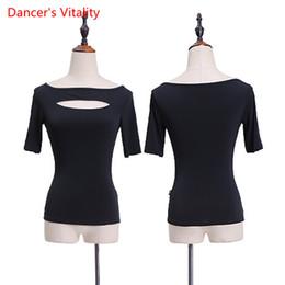 Latin Dancing Suit Australia - Latin Dance Practice Women Top Performance Suits Short Sleeves Cut out Clothes Rumba Salsa Tango Chacha Samba Costume Dancewear Outfits