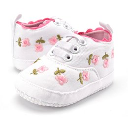 Baby Girl Summer Canvas Shoes Australia - Baby Girl Shoes Summer Spring Newborn Toddler Girl Canvas Crib Floor Non-slip Infant Sneakers Baby Kids Shoes First Walkers
