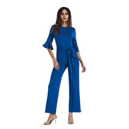 d3e351fef32 Clocolor women jumpsuits rompers overalls trousers plus size pants sexy see  through tops long sleeve slim lace jumpsuits sashes