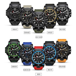 Мужчины военные часы камуфляж армия водонепроницаемый наручные часы Кварцевые часы спортивные часы Спорт шок часы 10 цветов открытый гаджеты OOA5081