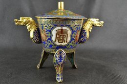 China Pole Australia - CHINA HANDWORK OLD CLOISONNE PAINTING FLOWER CARVING DRAGON INCENSE BURNER >>>Free shipping