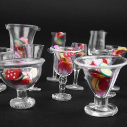 Clear Cup Sale Australia - Hot Sale 17pcs Set Mini Transparent Drink Cups Dish Plate Tableware Miniatures DIY Pretend Play Kitchenware Toy