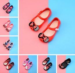 $enCountryForm.capitalKeyWord NZ - 2018 Kids Shoes For Girls New Limited Strap Baby Rubber Mini Cute Bow Sandals Children Bowtie 7 Colors