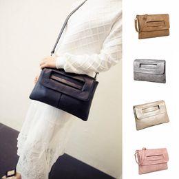 Messenger bag style purse online shopping - Fashion women Envelope Handbag Clutch PU Leather Shoulder Bags crossbody bag Ladies Purse fashion new styles bag FFA289 colors