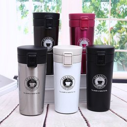 a8973ba04a9 Hot Stainless Steel Tumbler car Coffee insulated Mugs with Bounce cap Thermo  cup 380ml vacuum Insulation Water Bottle Travel Mug Flasks