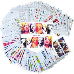 Nail stickers girls online shopping - 100pcs Nail Art Sticker Sets Mixed Full Cover Girl Flower Cartoon Decals for Polish Gem Nail Foils Art Decor TRSTZ134