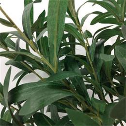 Discount easy flooring - 6 Fork Olive Leaf Branch Artificial Flower Botany Wedding Decoration Silk Flowers Eco Friendly Easy To Use 4 8wq dd