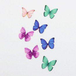 Small Magnets Wholesale UK - 12PCS 3D PVC Magnetic DIY Butterfly Wall Decoration Sticker Home Room With Double Side Glue Fridge Magnet lin2613