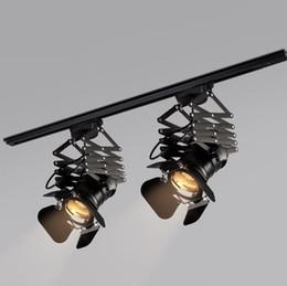$enCountryForm.capitalKeyWord UK - Vintage Track Lighting Fixture Loft RH Rural Industrial Lift Ceiling Lamp Bar Clothing Retro Absorb Dome Light without E27 Bulb