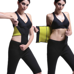 slimming neoprene waist belt Canada - Shapers Waist-Trimmer Slimming Belt Hot Abs Women Men Compression Adjustable Body Shaper Waist Belt Neoprene Slimming Corset