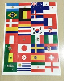 Wholesale Football World Cup Teams national Flags Stickers face Sticker Decals Russia Soccer Top Countries Flags Decal
