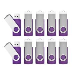 Usb Stick Pen Australia - Purple Bulk 20pcs 32GB USB Flash Drives Swivel Rotating Metal Flash Memory Stick 32gb for Computer Laptop Tablet Thumb Pen Drives Storage