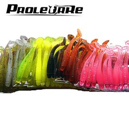 jig head fly lures 2019 - 10 Pcs pack 0.7g 5cm for Fishing Worm Swimbait Jig Head Soft Lure Fly Fishing Bait Fishing Lure YR-200