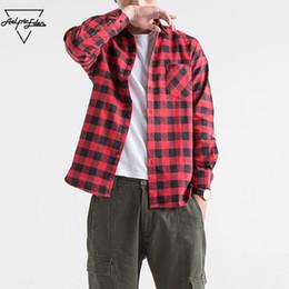 $enCountryForm.capitalKeyWord NZ - Aelfric Eden Flannel Long Sleeve Shirts Men Hip Hop Casual Pocket Button Up Shirt Coats Fashion Streetwear Dress Shirts Ae019