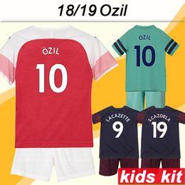 2e87044b97b Ozil Soccer Jersey Canada - 2018 19 OZIL Kid Kit Soccer Jerseys RAMSEY  LACAZETTE KOSCIELNY Home