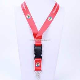 neck strap mobile UK - Wholesale Multi-function custom order Mobile Phone Straps Rope Neck Lanyard Key ID Card Pass Gym Hang Rope Lariat Buckle Ring