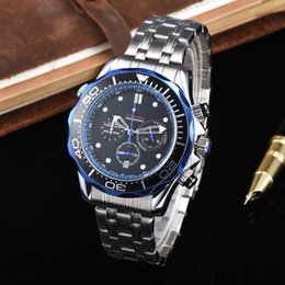 mens swiss chronograph luxury watches 2019 - Swiss Brand Mens Luxury Watches AAA Quality All Functional Subdial Work Master Rotating Bezel Designer Waterproof Watch