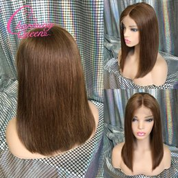 $enCountryForm.capitalKeyWord Australia - Lace Front Human Hair wigs Bob Wig Ombre Two Tone T1B 30 Straight Brazilian Virgin Hair 130 Density Natural Hairline Glueless Bleached Knots
