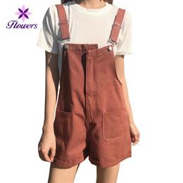 ed73285afe6 2018 New Fashion Summer Women s Clothing Plus Size Solid Color Shorts Loose  Leisure Korean Slim Denim High Waist Overalls LQ235