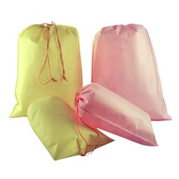 Discount pink tool bags - 1PC House Bag Tools Non-woven Shoes Cloth Bag Travel Drawstring Hot Sale High Quality
