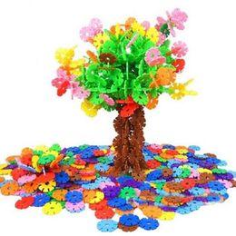 Kids Blocks Wholesale UK - 400PCS Kids DIY Multicolor Snowflake Building Blocks Educational Assembling Classic Toys for Children Xmas Gift