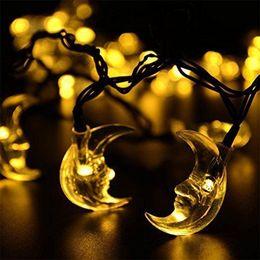 $enCountryForm.capitalKeyWord Canada - Christmas Decorative Solar Powered Lights, 20 LED moon String light for Outdoor Home Patio Lawn Garden Xmas Party Wedding