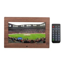Video digital picture frame online shopping - 10 LED Digital Picture Frame HD Screen Slideshow Photo Frame High Resolution Clock Video Player with Remote Control